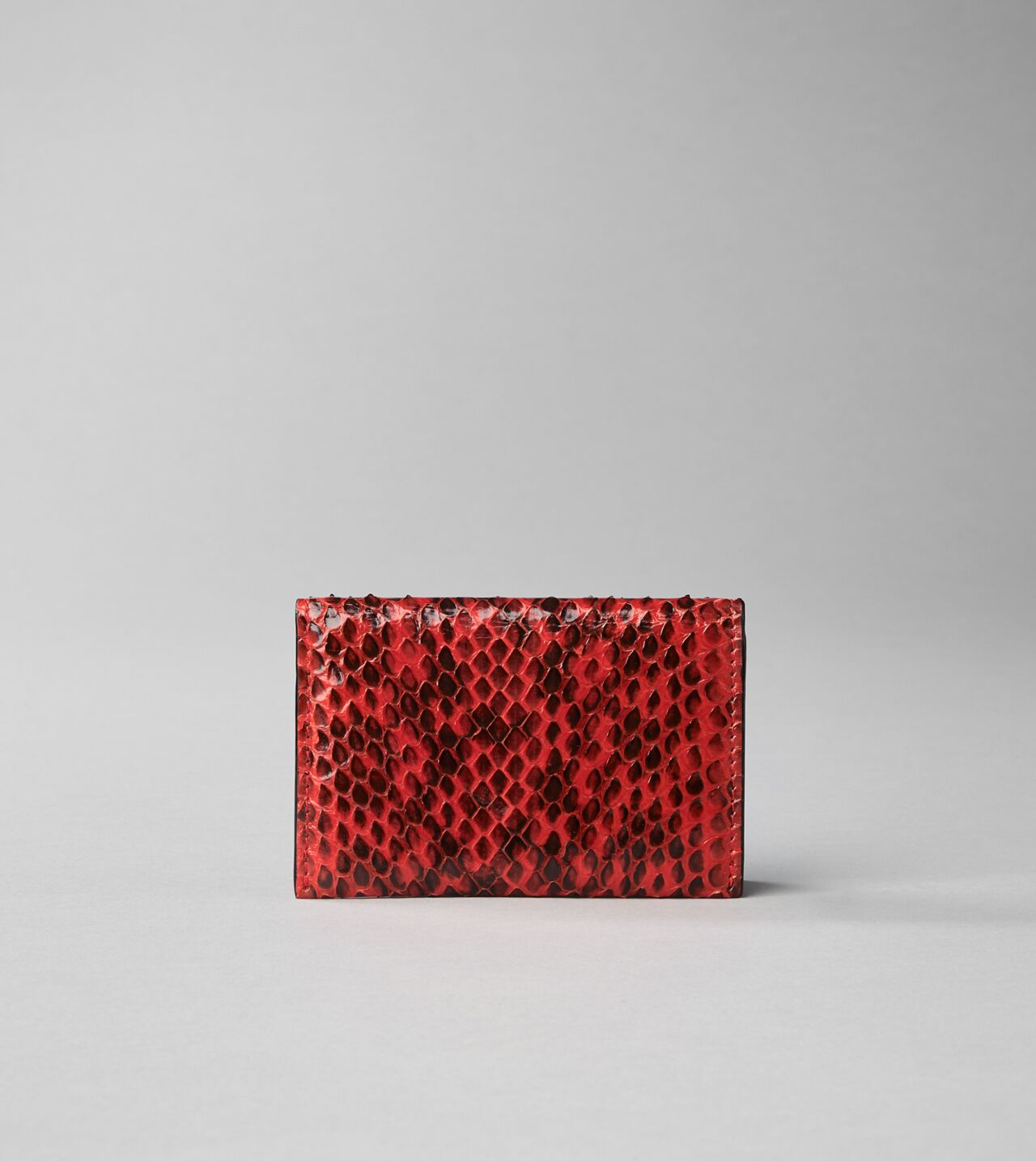 Picture of Byredo Business card holder in Red elaphe snakeskin