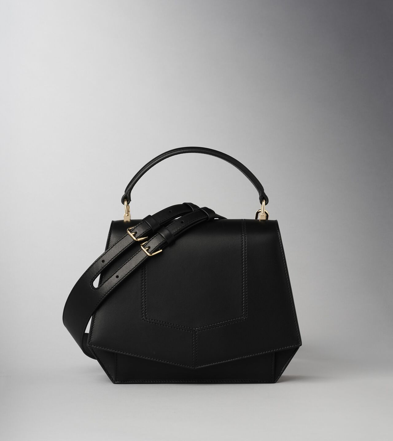 Picture of Byredo Blueprint bag in Black leather and gold hardware