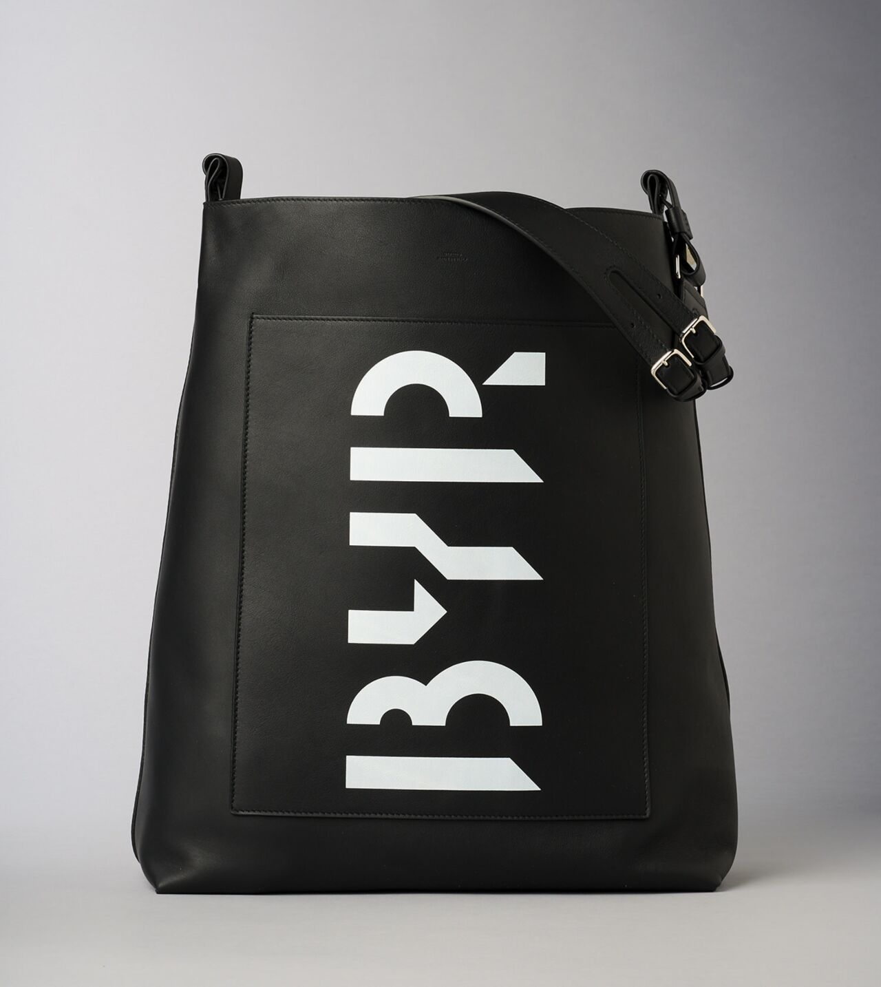 Picture of Byredo Eazy bag in Black printed leather and silver hardware