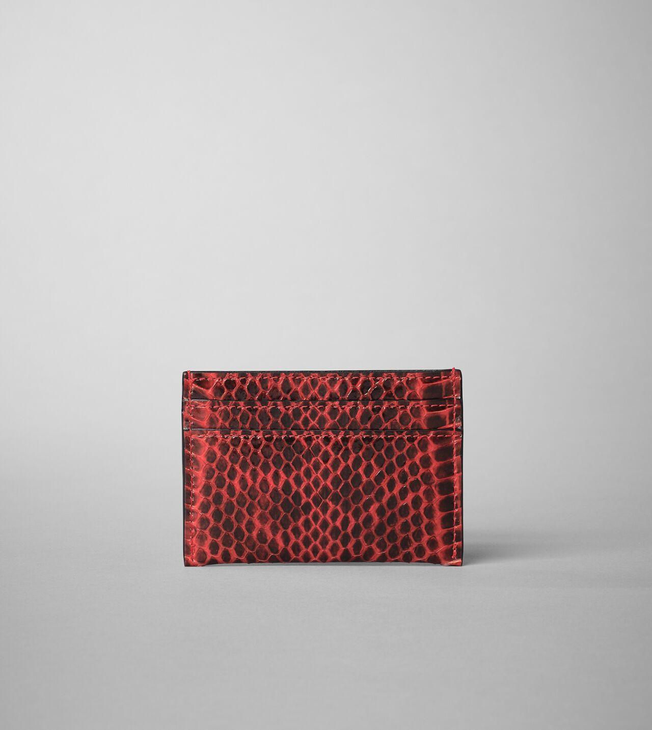 Picture of Byredo Credit card holder in Red elaphe snakeskin