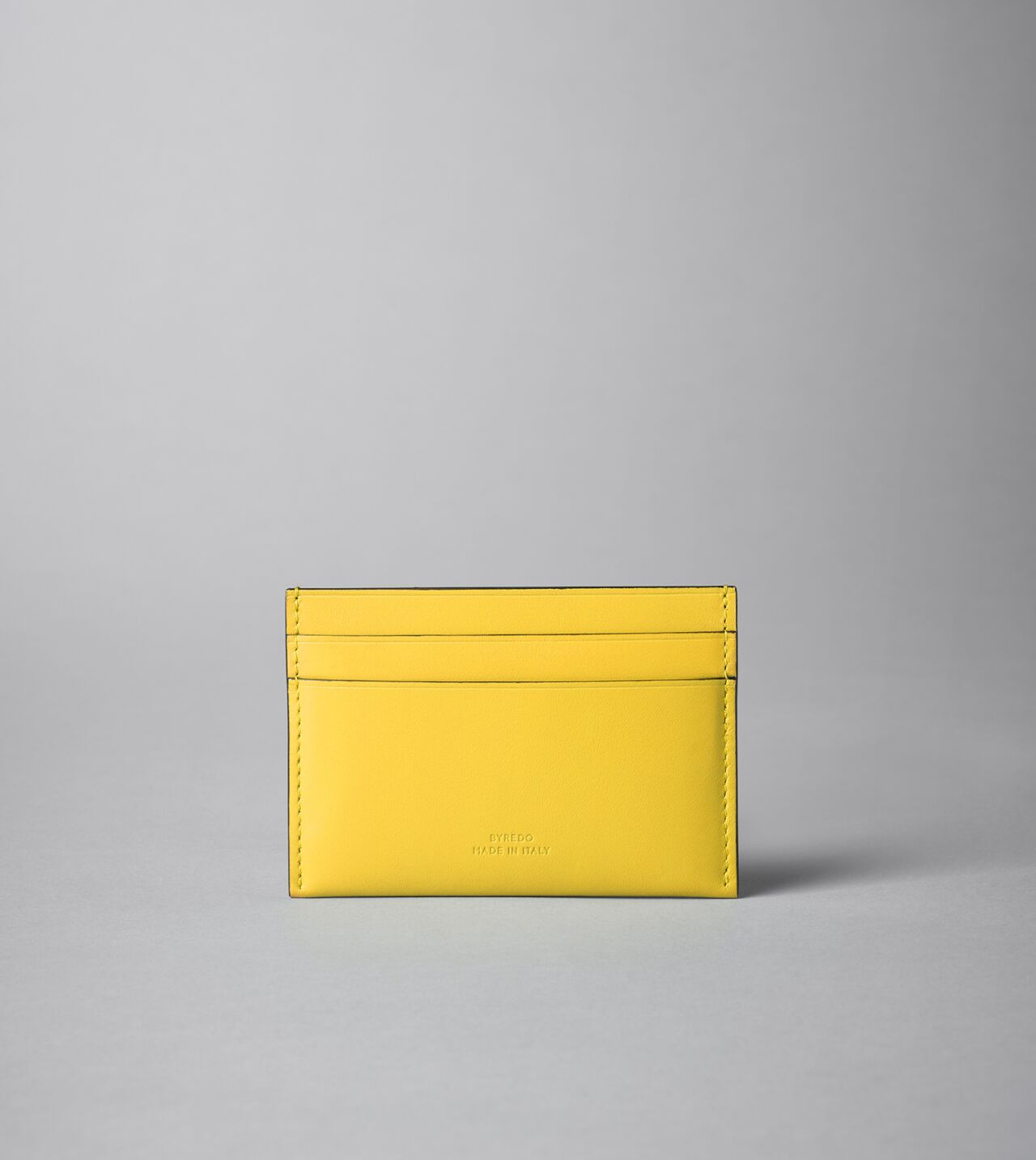 Picture of Byredo Credit card holder in Yellow leather