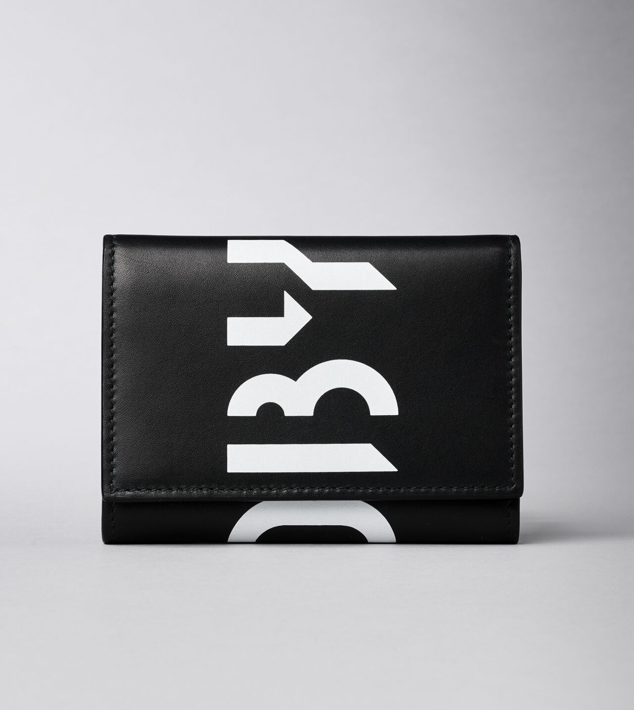 Picture of Byredo Flap wallet in Black printed leather