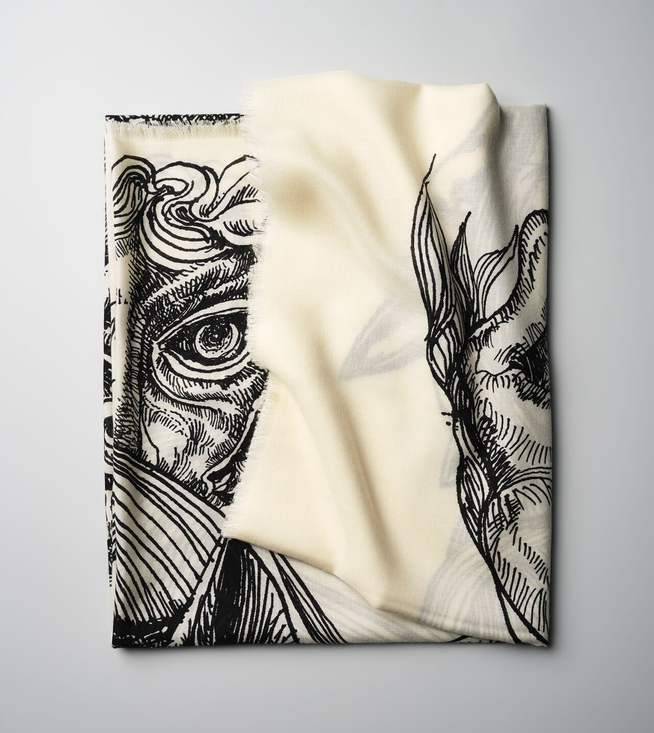 Picture of Byredo Cashmere Silk Scarf in Collaboration with M/M (Paris)
